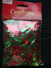 Large Bag Holly Berry & Poinsettia Christmas Table Confetti Sprinkles Decoration