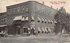 FRIENDSHIP NY 1907-14 The New Friendship Hotel People in an Old Car VINTAGE GEM+