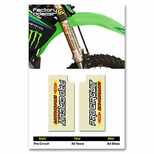 PRO Circuit SHOWA Fork STICKERS MX Dirt Bike GRAPHICS  fit all Motocross Bikes