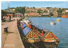 Bristol Postcard - Floating Harbour - Showing Houses and Houseboats    AB2348