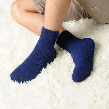 Mens Thick Warm Coral Fleece Slipper Non-slip Cotton Socks Floor Towel Hot Sale
