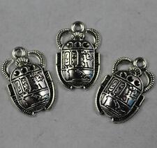 wholesale 20pcs Retro style ancient Egyptian beetle alloy charms pendants 26x16m