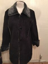Centigrade Fake Sheepskin Fur Coat Size M Uk Size 12