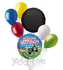 7 pc Video Game Controller Happy Birthday Level Up Balloon Bouquet Decoration