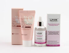 (1+1) Mizon Snail Recovery Gel Cream + UNIK Rose Galactomyces Synergy Serum 50ml