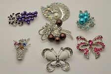 Wholesale Lot 7 Pins  Vintage Style  Brooches Pins Mix color  Bouquet