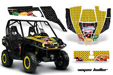 AMR Racing CanAm Commander Graphic Decal Kit UTV Accessories All Years VEGAS YLW