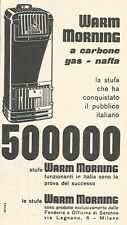 W8861 Stufe WARM MORNING - Pubblicità del 1958 - Vintage advertising