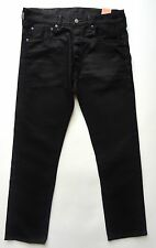 LEVI'S NEW $69.50 MENS 501 BLACK ORIGINAL FIT STRAIGHT LEG JEANS  33 X 32