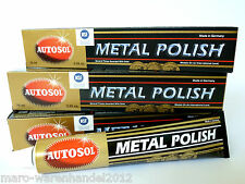 (56,63€/L) 4x 75 ml Autosol® Edel Chromglanz Metal Polish Oldtimer Chrom Politur