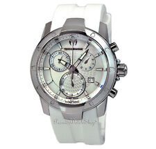 On Sale! NEW Techno-Marine UF6 Large Chrono White 610003 Men's Chronograph Watch
