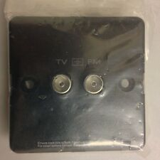 MEM EATON C352B 2G TV/FM DIPLEXER CO-AXIAL OUTLET ISOLATED BLACK NEW