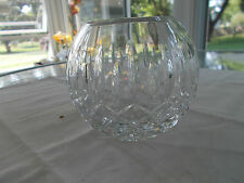 "Lenox 4"" Glass Rose Bowl Cut Geometric Design Sunburst On Bottom Very Good"