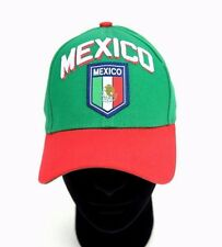 RHINOX MEXICO Baseball Cap Adjustable 100% Cotton Green / Red Hat Gorra Cachucha