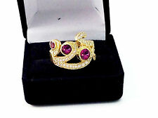 1.86Ct Natural Rubellite Pink Tourmaline And Diamond Ring, Solid 14K Yellow Gold