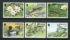 JERSEY 2001 POND LIFE EUROPA SET OF 6 UNMOUNTED MINT, MNH