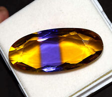 101.60 Ct Beautiful Purple & Yellow Ametrine Oval Cut GGL Certified Gem Stone