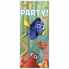 "60"" Disney Finding Dory Birthday Party Plastic Door Banner Poster Decoration"