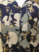 Harry Rosen Men's Floral Hawaiian Shirt Large