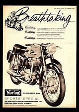 1962 NORTON DOMINATOR  650SS  650  SS  SPORTS SPECIAL MOTORCYCLE.MAGAZINE ADVERT