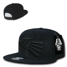 Black Mexican Hecho En Mexico Eagle Aguila Embroided Flat Snapback Snap Hat Cap
