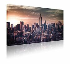 "20"" x 30"" Skyline di New York Tela Wall Art Print PICTURE GRATIS P&P"