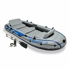 Intex Excursion 5 Inflatable Boat Set including Pump and Oars, 5 person