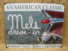 Mel's Diner Tin Metal Sign Decor 60's Food Restaurant