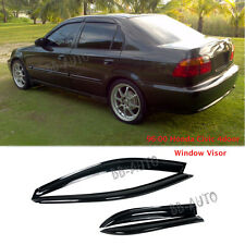 96-00 Honda Civic Window Wind Rain Shield Guard Vent Smoke Deflect Visor 4Dr