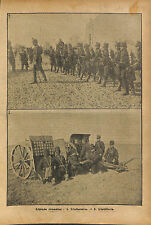 Military maneuvers Soldiers Romania Army Infantry Roumanie WWI 1916 ILLUSTRATION