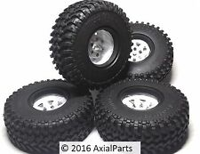 4 RC4WD 1.55 Mud Thrashers Scale Tires & Steel Beadlock Wheels Trail Finder TF2