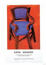 """DAVID HOCKNEY """"THE CHAIR"""" POSTER PRINT 10""""x14"""" WALL ART POSTER PAGE"""