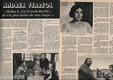 Coupure de presse Clipping 1976 Andréa Ferreol   (4 pages)