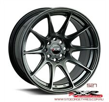 17 INCH XXR 527 CHROMIUM BLACK WHEELS AND STRETCH TYRE DRIFT STYLE PACKAGE