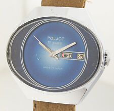 POLJOT - SPACE  - KULTIGE DESIGN HERREN ARMBANDUHR - 1970er JAHRE - MADE IN USSR