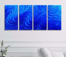 Large Multi Panel Modern Wall Sculpture, Blue Metal Wall Art Decor - Jon Allen