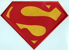 """7.8"""" x 11"""" Embroidered Christopher Reeve Red / Yellow  Superman Chest Logo Patch"""