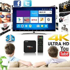 V88 Plus 4K Quad Core 2G+8G Smart Android 5.1 Smart TV Box WiFi H.265 Media US