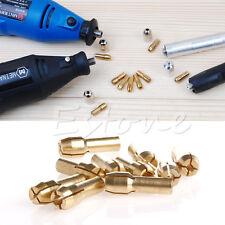 10 Pcs Mandrins Collet Bit Laiton 0.5-3.2mm Shank pour Dremel Outil rotatif