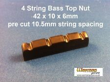 Black Bass guitar Top Nut / Bridge 42x10x6mm - 75p P&P