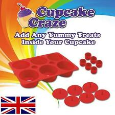 FILLED 6 CUPCAKE SILICONE MAKER CAKE MAKING KIT SET FILLING BAKING KIDS TRAY FUN