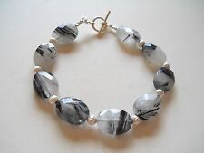 Rutilated Quartz Sterling Silver Bracelet
