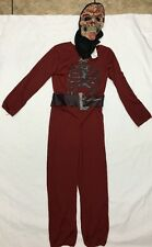 MEDIEVAL SKULL COSTUME HALLOWEEN BOYS  MEDIUM 7-8 DARK RED W/MASK GAME OF THRONE