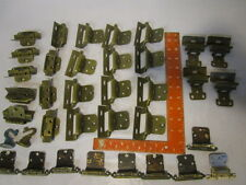 large lot of 25 used brass hinges for cabinet doors, trunks etc vintage hardware