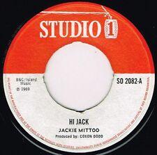 """studio 1 7"""" : JACKIE MITTOO-hi jack  (hear)   studio 1   boss reggae"""