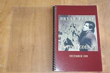 Bryan Ferry / TOUR ITINERARY / As Time Goes By Tour DEC 1999 ROXY MUSIC
