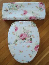 ~Love Vanilla Rose~ Shabby Pink Bathroom ..Toilet Seat & Tank Lid Cover Set