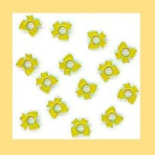 "LAST Set of 100 RIBBON Shaped Bow 3/16"" EYELETS Sunflower Yellow Colored"