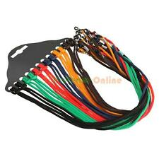 12pcs colorful eyewear nylon cord reading glasses neck strap eyeglass holder New