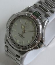 TAG HEUER Luxury Sport Watch for Women, 999.713K, 4000 Diver model, Silver Face